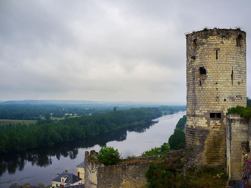 Castillo de Chinon de nuestro viaje a los Castillos del Loira