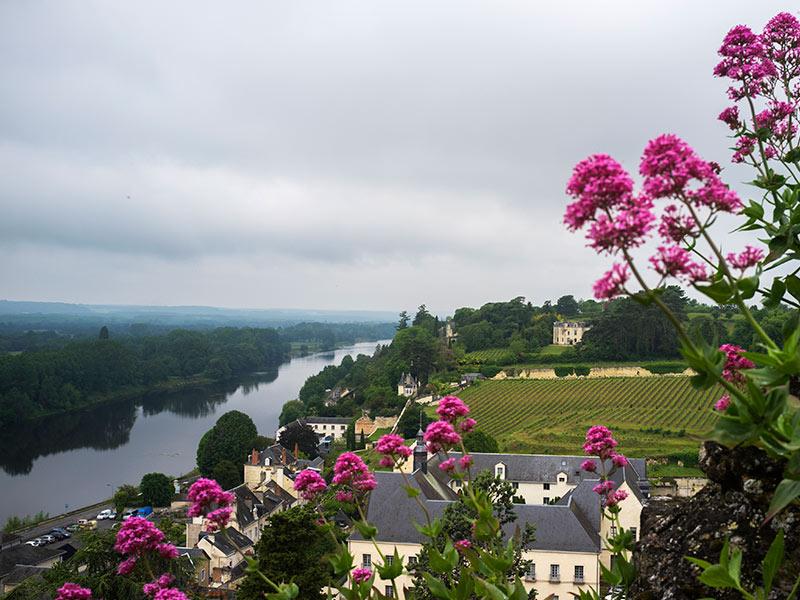 Paisaje de Chinon de nuestro viaje a los Castillos del Loira