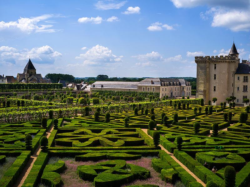 Jardines del castillo de Villandry de nuestro viaje a los Castillos del Loira