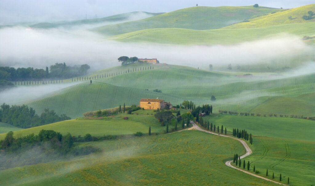 Valle del Orcia, viaje a la Toscana
