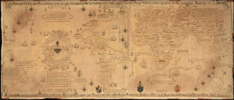 Mapa de Diego Ribero. 1529.