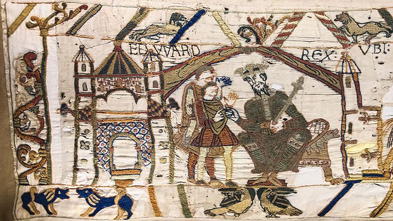 Detalle del Tapiz de Bayeux