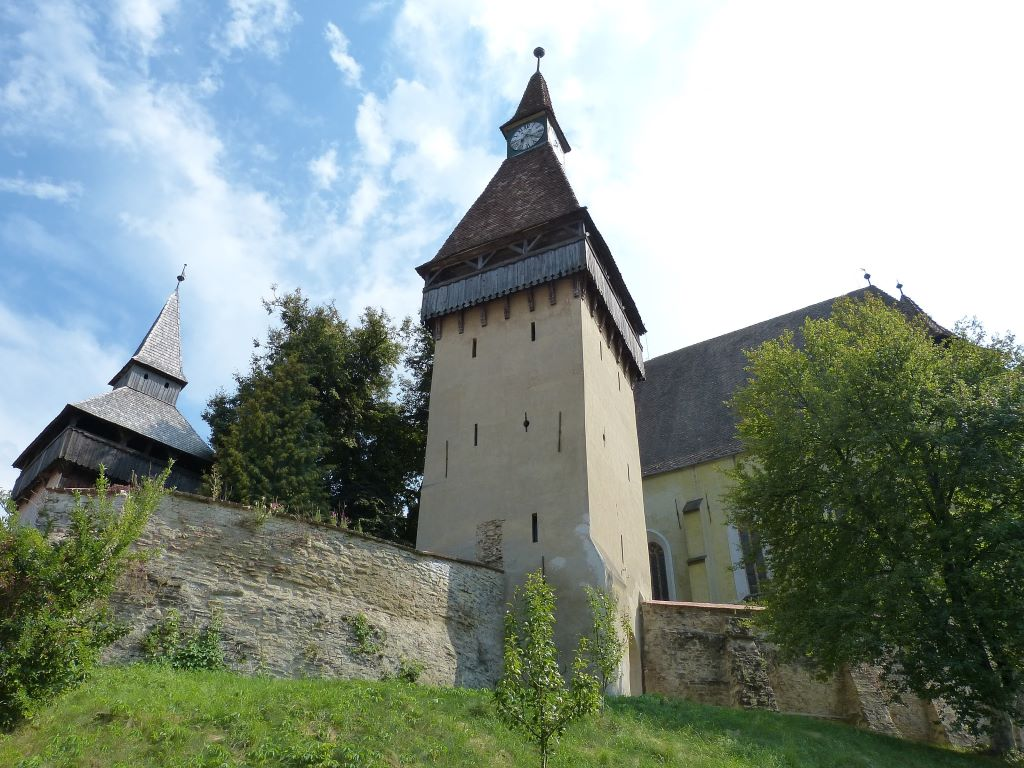 La conocida como Torre del Reloj de la iglesia fortificada de Biertan