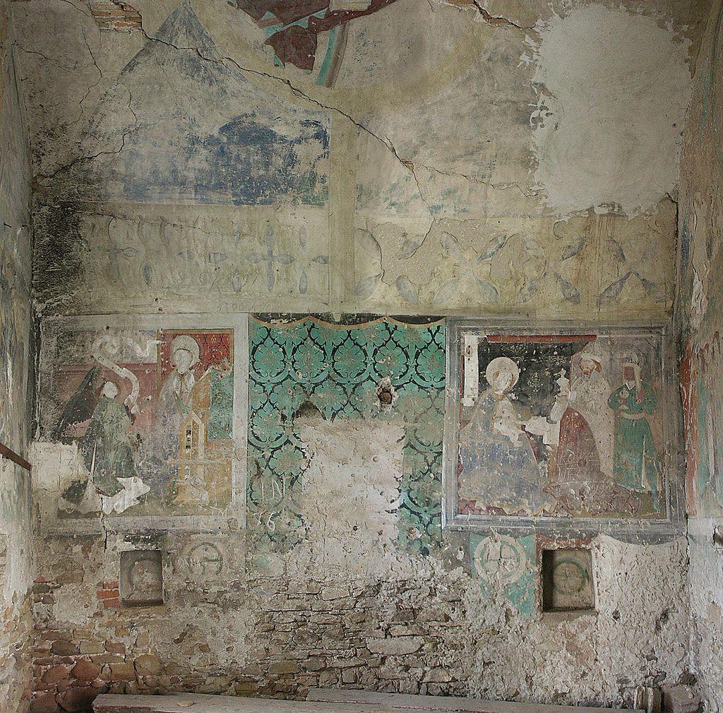 Biertan. Frescos en el interior de una de las torres de Biertan. Foto: Daniel Tellman (CC BY-SA 2.0)