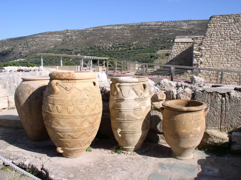 Ánforas de almacenaje en el Palacio de Cnosos
