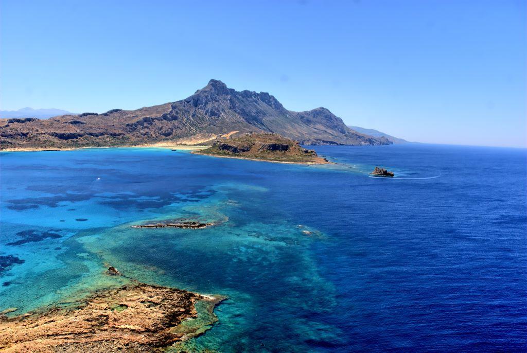 Típico paisaje cretense en la playa de Balos.